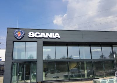 Anbau einer Ausstellungshalle sowie Erweiterung des Verwaltungs-Gebäudes, SCANIA